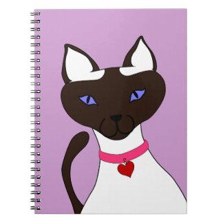 Purr-fect Moira Lavender Notebook