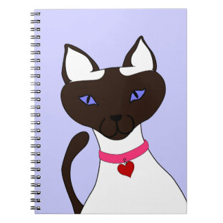 Purr-fect Moira Periwinkle Blue Notebook