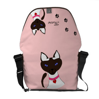 Purr-fect Moira Pink Commuter Bag Two-Sided Courier Bags