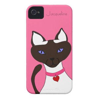Purr-fect Moira pink template iPhone 4 case