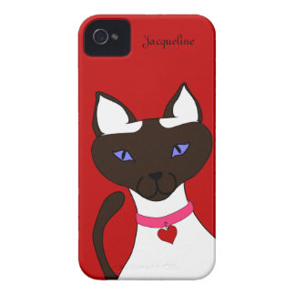 Purr-fect Moira red template iPhone 4 case
