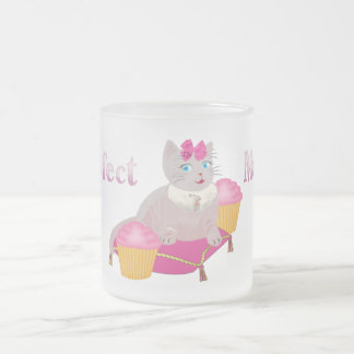 Purr-fect Moments Frosted Glass Coffee Mug
