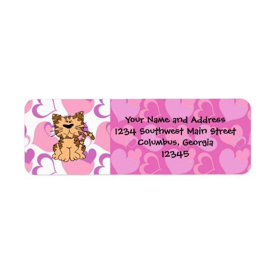 Purr-fect Valentine Return Address Label