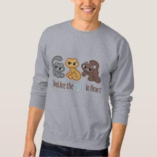 Purr in Heart Embroidered Sweatshirt