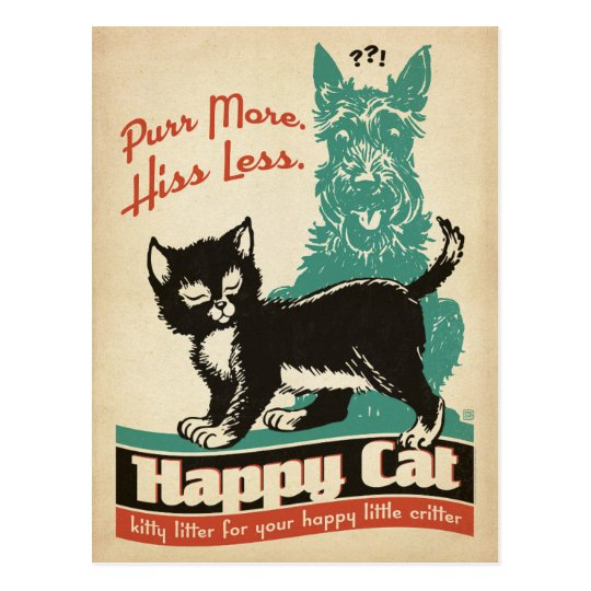 Purr More. Hiss Less. Postcard