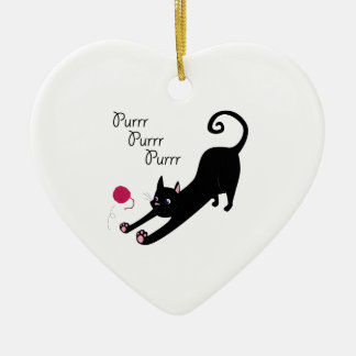 Purr Purr Ceramic Heart Decoration