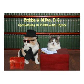 PURR-sonal Injury Cats Postcard