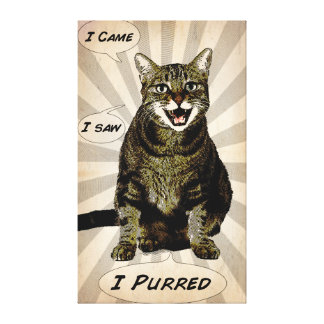 Purred Stretched Canvas Prints
