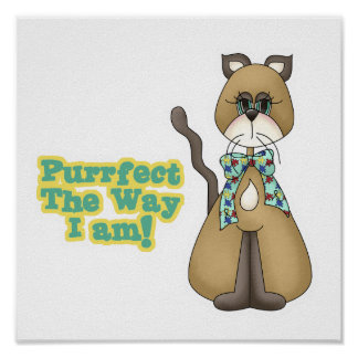 Purrfect Autism Awareness Kitty Cat Poster
