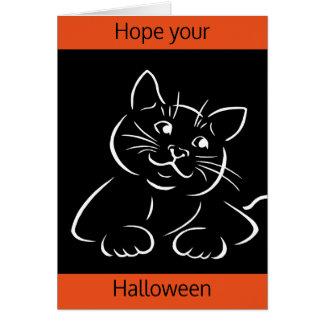 Purrfect Halloween Greeting Card