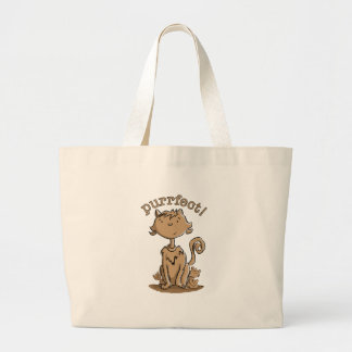 Purrfect Mommy cat and kittens Large Tote Bag