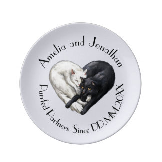 """Purrfect Partners"" Keepsake Plate"