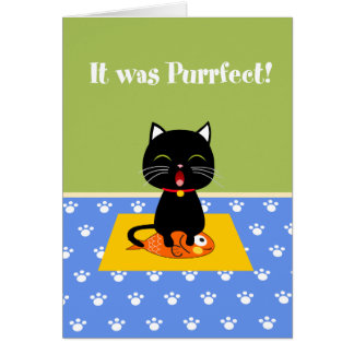 Purrfect Thank You Card