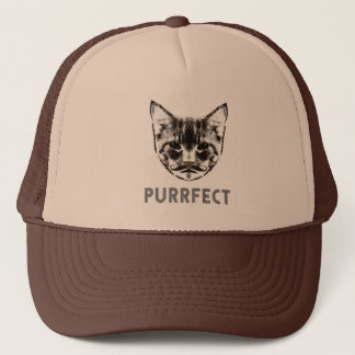 Purrfect trucker cap