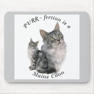 Purrfection Maine Coon Mouse Pad
