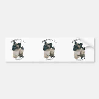 PURRfection Siamese Seal Point Bumper Sticker