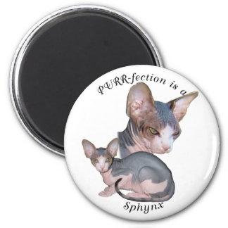 PURRfection Sphynx 6 Cm Round Magnet