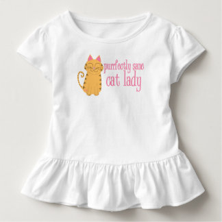 Purrfectly Sane Cat Lady Toddler Ruffle Shirt