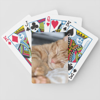 Purrfectly sleeping bicycle playing cards