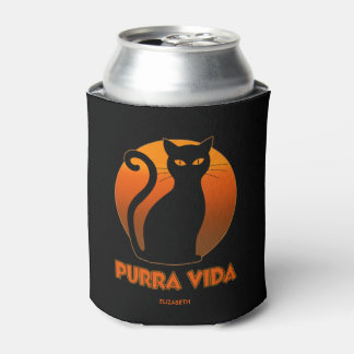 Purring Cat And Sun Purra Vida Pure Life Funny Can Cooler