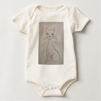 Purring Cat Baby Bodysuit