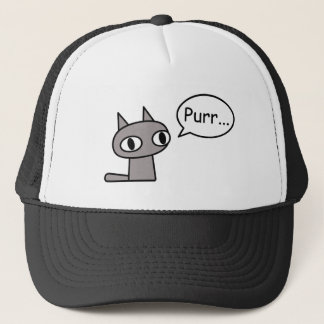 Purring Cat Trucker Hat