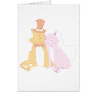 Purring Wedding Cats Greeting Card