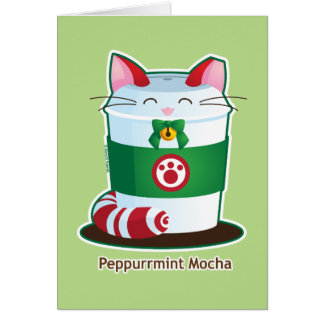 Purrista Pawfee - Cute Holiday Coffee Cat Card