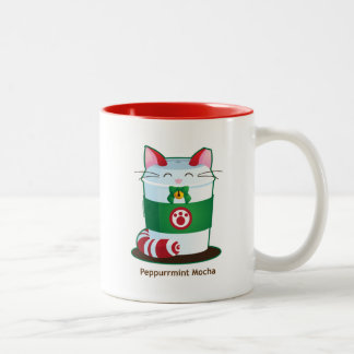 Purrista Pawfee - Cute Holiday Coffee Cat Two-Tone Coffee Mug