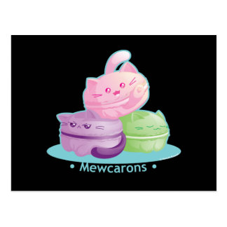 Purrista Pawfee: Cute Kitty Cat Macarons Postcard