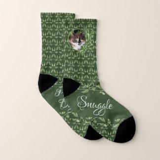 Purrrfect Day Calico Cat Socks