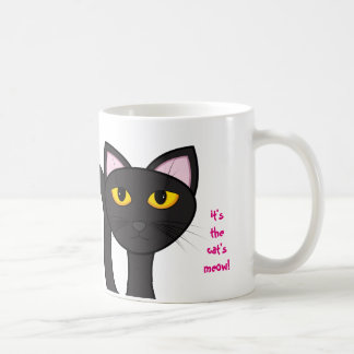 Purrrfection! It's The Cat's Meow! Big Kitty Cat Coffee Mug