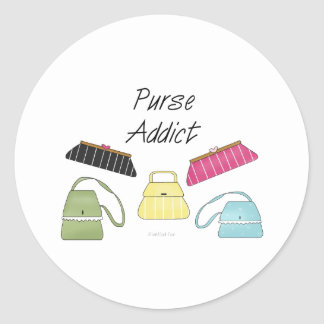 Purse Addict Classic Round Sticker