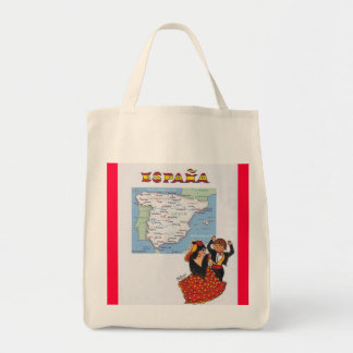 PURSE FOR SPAIN PURCHASES GROCERY TOTE BAG