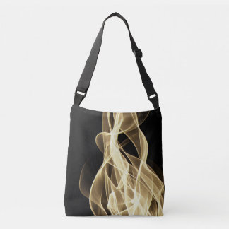 purse in flames crossbody bag