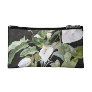 Purse make-up with watercolor of gannets (coves