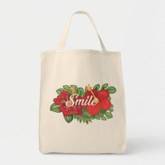 Purse smile tote bag