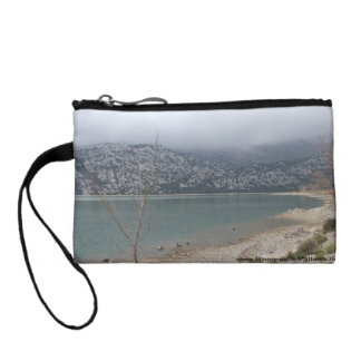 Purse with two photos of Embalse de Cuber Coin Wallets