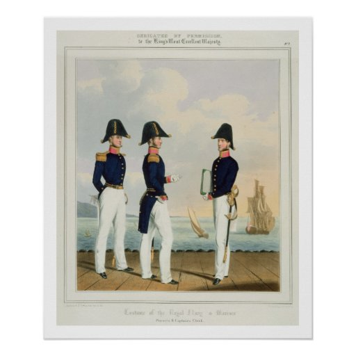 Pursers and Captain's Clerk, plate 7 from 'Costume Print