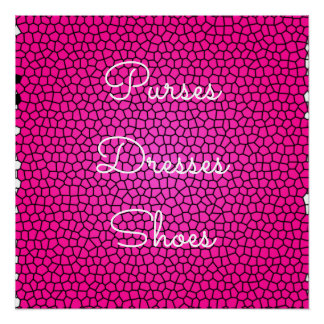 Purses, Dresses, Shoes, Pink Snake Print Poster