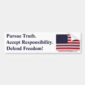 Pursue Truth #1.0 Bumper Sticker