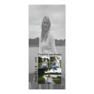 Pursuing my dreams graduation photo card 10 cm x 24 cm invitation card