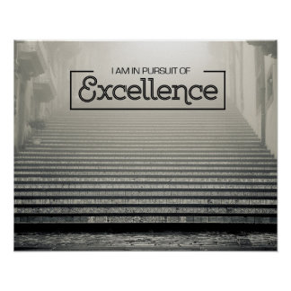 Pursuit Of Excellence Poster
