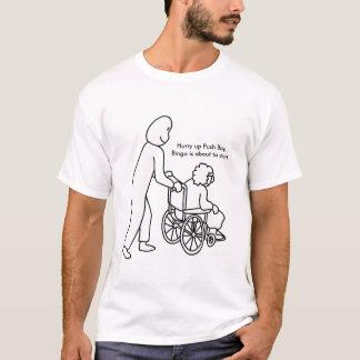 Push Boy and Grannie in her wheelchair Bingo bound T-Shirt