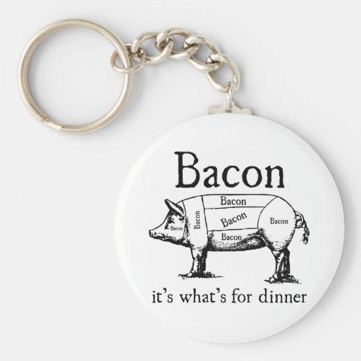Push Button, Receive Bacon - Bacon Dispenser Keychains