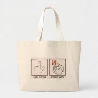 Push Button, Receive Bacon Jumbo Tote Bag