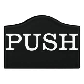 Push Door Sign