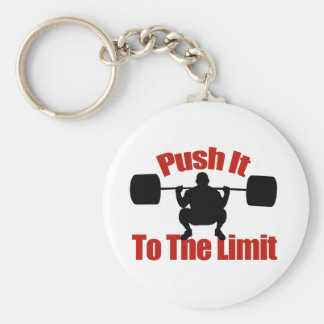 Push it to the limit basic round button key ring