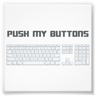 Push My Buttons Computer Keyboard Photo Art