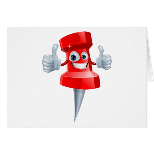Push pin man card